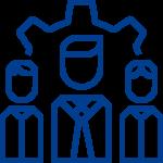 Grafik fuer den Bereich Kooperation in blau auf weißem Hintergrund in PNG Format.