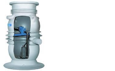 Anschlussfertige Pumpstation aus hochwertigen Werkstoffen für leichten Einbau im Privatbereich.