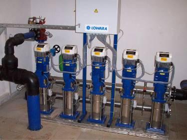 ANLAGENBAU, Planung, Lieferung und Montage von Druckerhoehungs-Anlagen (DEA) und Abwasser-Pumpwerken.