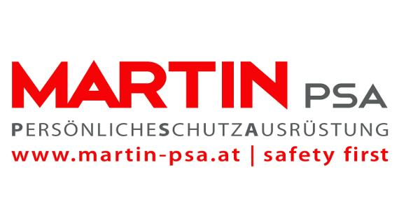 Logo der Firma MARTIN PSA. Hersteller persoenliche Schutzausruestung.