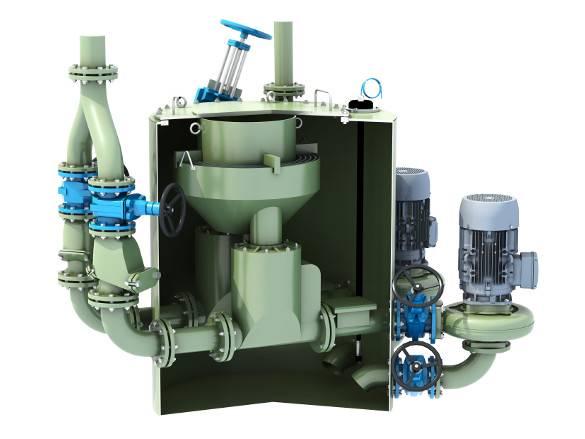 Pumpen-Anlage Schnittmodell