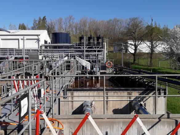 Pumpenanlage in der Wasserwirtschaft.