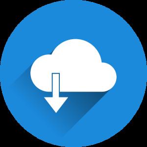 Symbol fuer den Download von Daten aller Art.